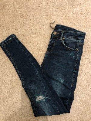Zara Tube jeans donkerblauw