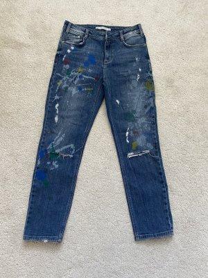 Zara Jeans boyfriend bleu