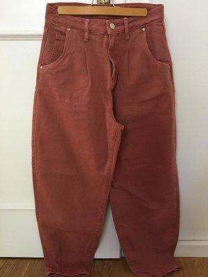 Zara Woman High Waist Jeans pink-neon pink
