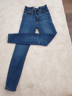 Zara Vaquero estilo zanahoria azul acero-azul aciano