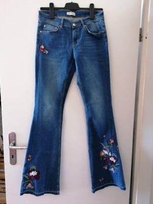 Zara Jeans bootcut multicolore