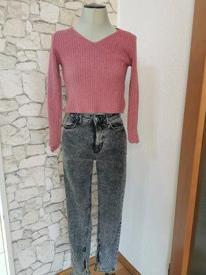 Zara jeans gr 34 grau mit schlitz