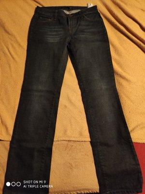Zara Jeans met rechte pijpen donkerblauw