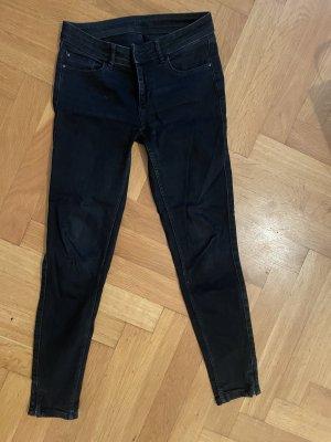 Zara jeans grau schwarz gr 38