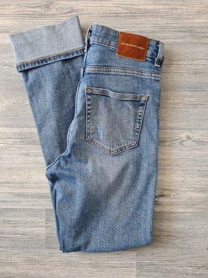 ZARA Jeans, Highwaist, gerades Bein, slim, helle Waschung, Gr.34