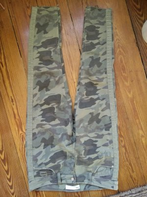 zara jeans hose, Camouflage Jeans, cut out, used washed, Gr. 38, wie neu