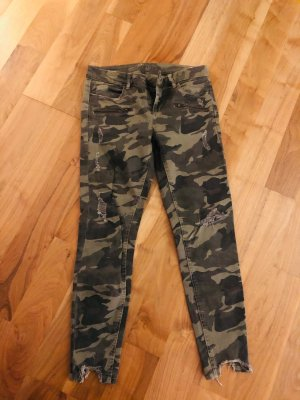 Zara Jeans in military style, Grösse M / 38, cooler Edge Style