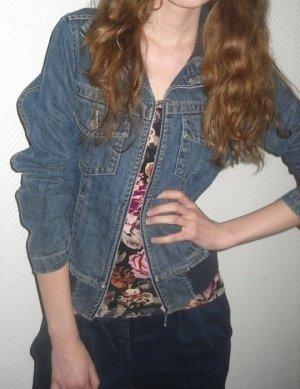 Zara Jeans Jacke blau washed Blazer Jeansjacke Cardigan XS S M L 34 36 38