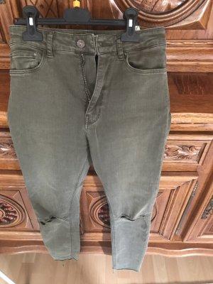 Zara Pantalon pattes d'éléphant kaki