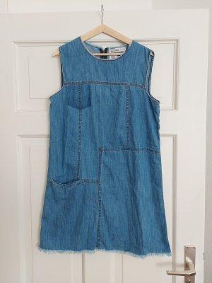 Zara Jeans-Kleid L wie M 40 38 Blau Denim A-Linie