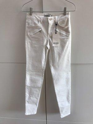 Zara Jeans Mid Waist Skinny Biker Stil mit Reisverschlüssen Gr. 34 / XS - NEU mit Etikett!