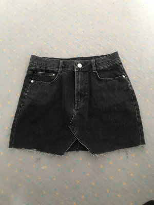 Zara Jeans Minirock Schwarz/Anthrazit washed neuwertig