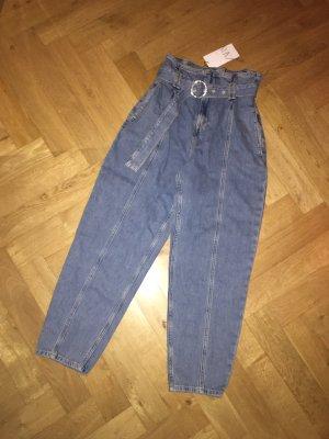 Zara Jeans mit hoher Taille und weitem Bein