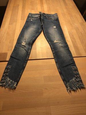 Zara Jeans mit Nieten 40