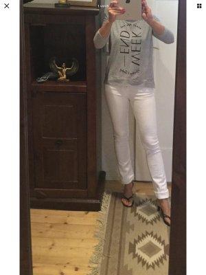 Zara Jeansy ze stretchu biały