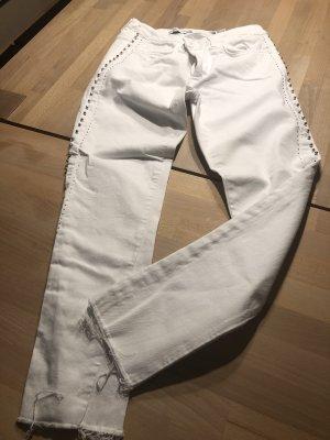Zara Jeans mit Strasselementen 40