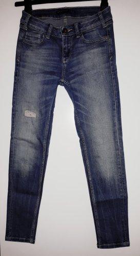 Zara Jeansy z prostymi nogawkami niebieski