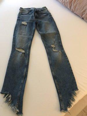 Zara Jeans a carota blu