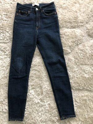 Zara Jeans elasticizzati blu scuro