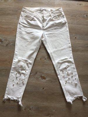 Zara Jeans Perlen Gr. S