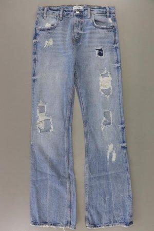 Zara Jeans Schlaghose Größe 36 blau aus Baumwolle