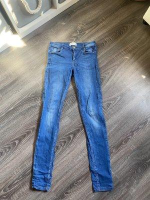 Zara Jeans skinny Stretch röhrenjeans Hose hellblau blau