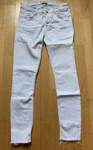 ZARA Jeans Skinny weiss distressed