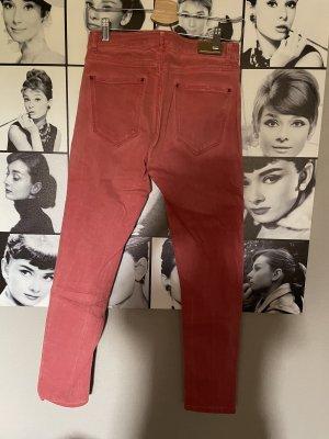 Zara Jeansy z prostymi nogawkami jasnoczerwony-czerwony