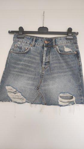 Zara Jeans Vintage Destroyed Mini Rock Denim Ripped Ausgefranst XS-S Highwaist