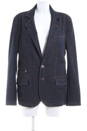 Zara Jeansblazer blau Casual-Look