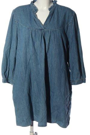 Zara Blusa denim blu stile casual