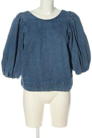 Zara Jeansbluse blau Casual-Look