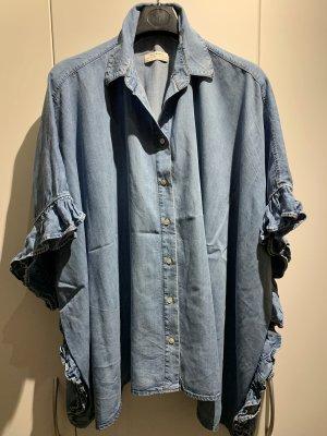 Zara Blusa denim azzurro