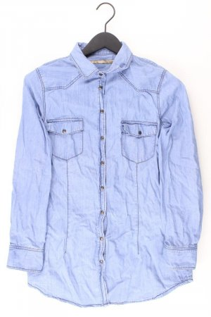 Zara Blouse en jean bleu-bleu fluo-bleu foncé-bleu azur coton