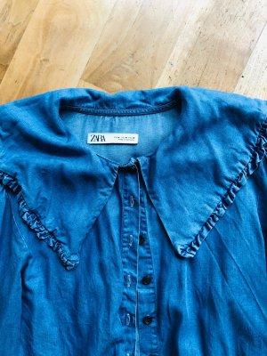 Zara Blusa denim blu