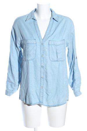 Zara Denim Shirt blue casual look