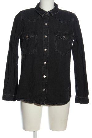 Zara Camisa vaquera negro look casual