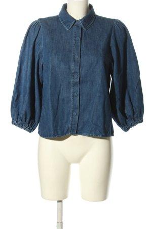 Zara Jeansowa koszula niebieski W stylu casual