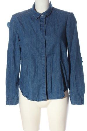 Zara Camicia denim blu stile casual