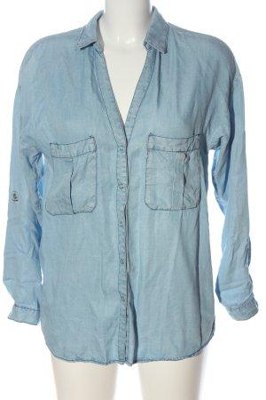 Zara Spijkershirt blauw casual uitstraling