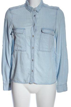 Zara Jeanshemd blau Casual-Look