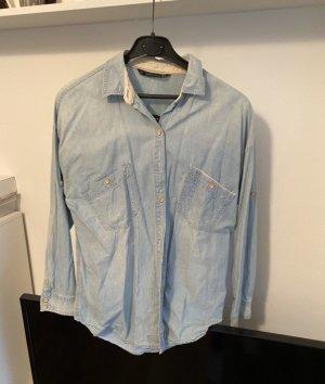 Zara Camicia denim azzurro