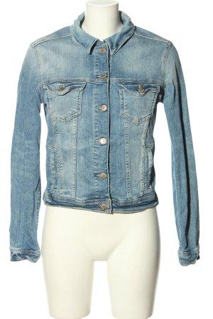 Zara Jeansjacke blau Casual-Look