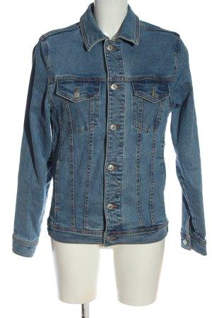 Zara Veste en jean bleu style décontracté