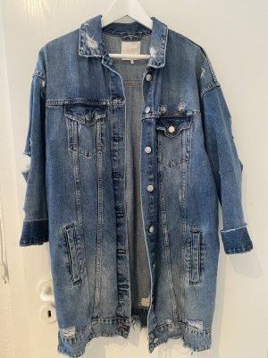 Zara Trafaluc Denim Jacket slate-gray