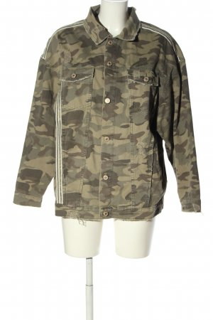 Zara Jeansjacke Camouflagemuster Casual-Look