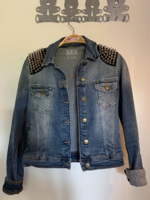 ZARA Jeansjacke Denim mit Nieten Patches S