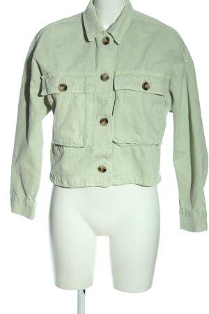 Zara Jeansjacke grün Casual-Look