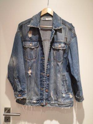 Zara Jeansjacke Jacke S oversized used style blau