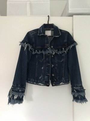 Zara Jeansjacke mit Fransen neuwertig